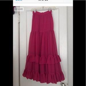 Vintage high waisted maxi dress